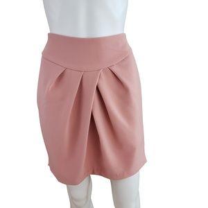 Blush Pink Tulip Lantern Skater Skirt L